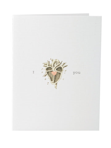 I Heart You Greeting Card Valentine's Day Card