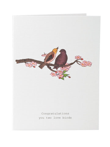 Congratulations You Two Love Birds Greeting Card