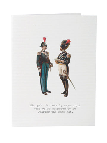 Men in Hats Greeting Card on Blank Stationery