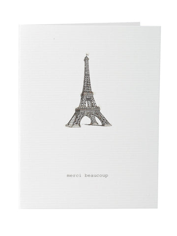 Merci Beaucoup Greeting Card on Blank Stationery