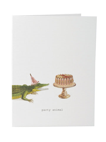 Party Animal Birthday Card on Blank Stationery