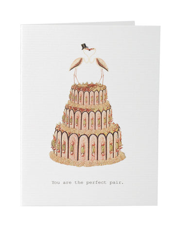 The Perfect Pair Wedding Card on Blank Stationery