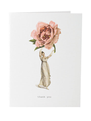 Thank You Greeting Card on Blank Stationery