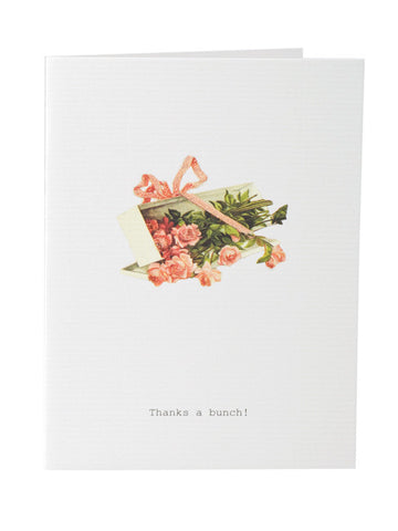 Thanks A Bunch Greeting Card on Blank Stationery