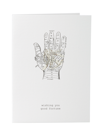 Wishing You Good Fortune Greeting Card on Blank Stationery