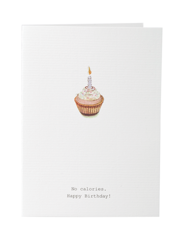 No Calories Birthday Card on Blank Stationery