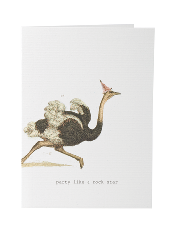 Party Like A Rock Star Greeting Card on Blank Stationery