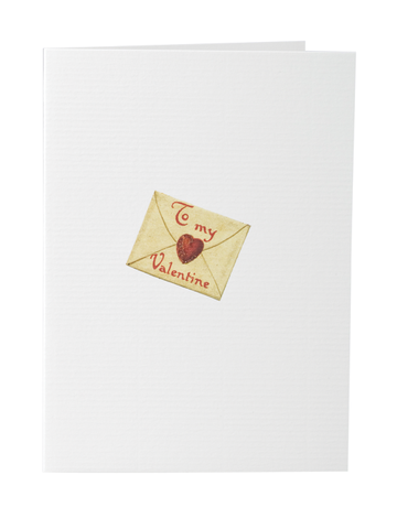 To My Valentine Greeting Card on Blank Stationery
