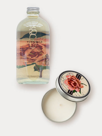 Rose Fragranced Bubble Bath & Candle Gift Duo