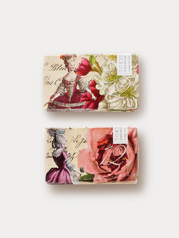 Large Soap Gift Duo: Rose Flower + White Flower