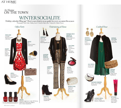 Tassel earrings by Bella Vita Jewelry featured in Entertaining at Home in the At Home On the Town Winter Socialite collection of At Home In Arkansas