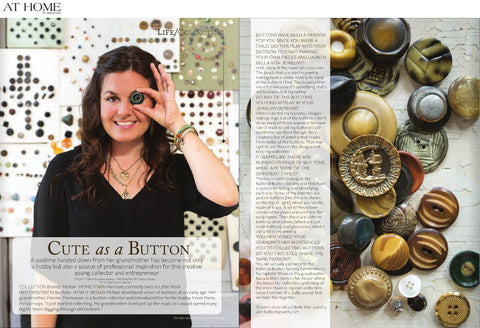 Brandy Thomason McNair, designer and founder of Bella Vita Jewelry, featured in Cute As A Button in At Home In Arkansas