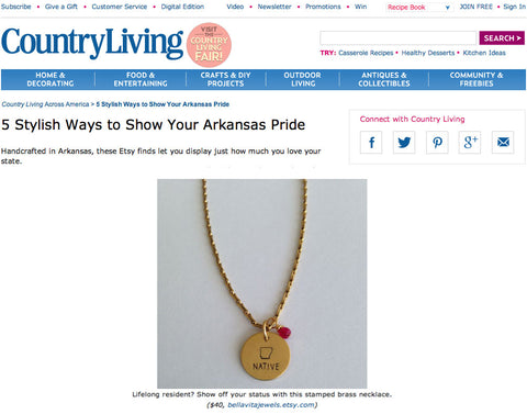 Native necklace by Bella Vita Jewelry featured on CountryLiving.com