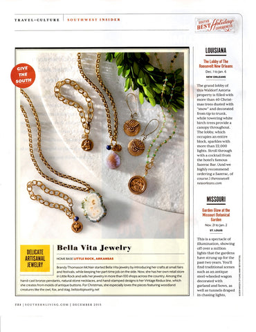Bella Vita Jewelry featured in Volume 15 No 12 of Southern Living