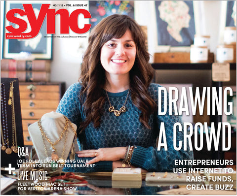 Brandy Thomason McNair, designer and founder of Bella Vita Jewelry featured in Drawing a crowd in Sync Weekly