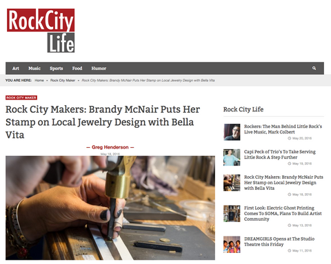 Rock City Makers: Brandy McNair Puts Her Stamp on Local Jewelry Design with Bella Vita | Rock City Life