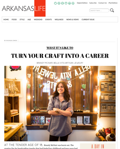 WHAT IT'S LIKE TO TURN YOUR CRAFT INTO A CAREER | Arkansas Life | Bella Vita Jewelry