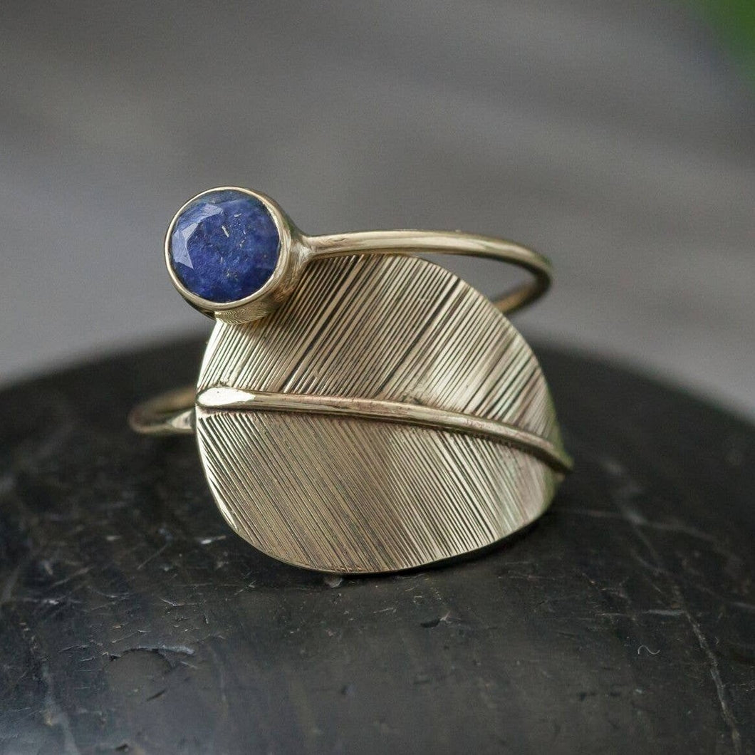 RING | Brass Lapis Feather