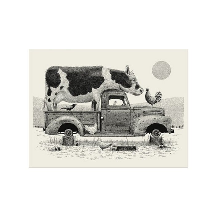 PRINT | Cow in Truck