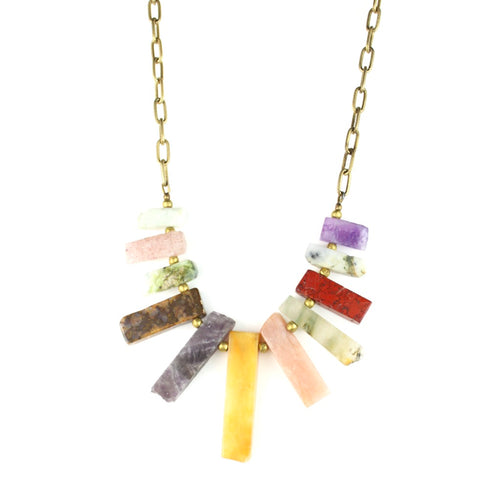 BIB Necklace | Multi-Stone
