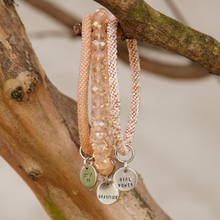 MANTRA BRACELET | Crystal Bangle w/ Mantra Charm