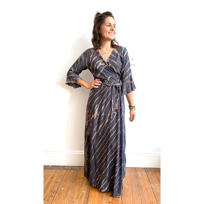APPAREL | Shibori Wrap Dress