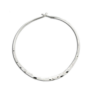EARRINGS | Hammered Hoops in Sterling Silver