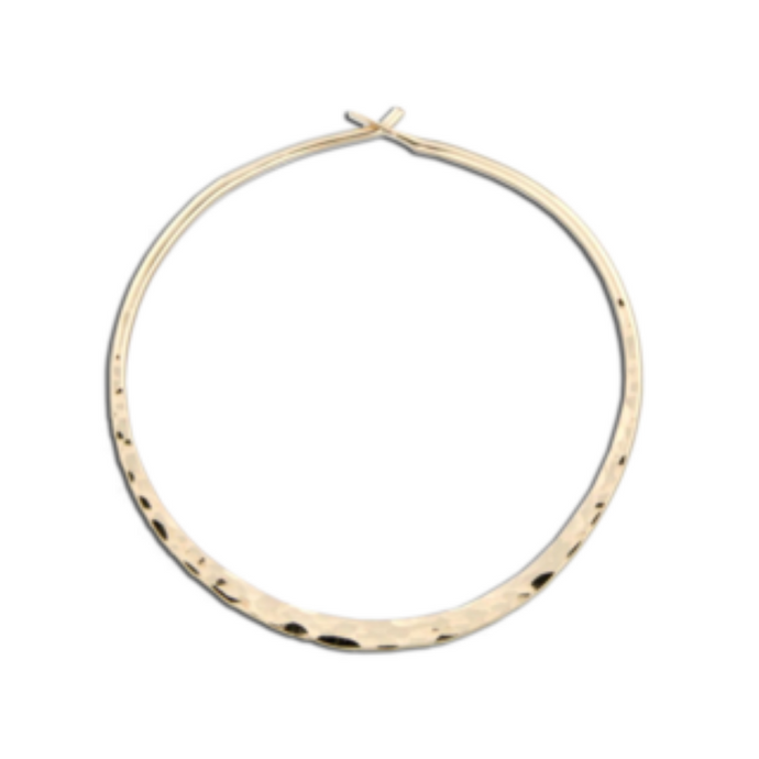 EARRINGS | Hammered Hoops in Gold