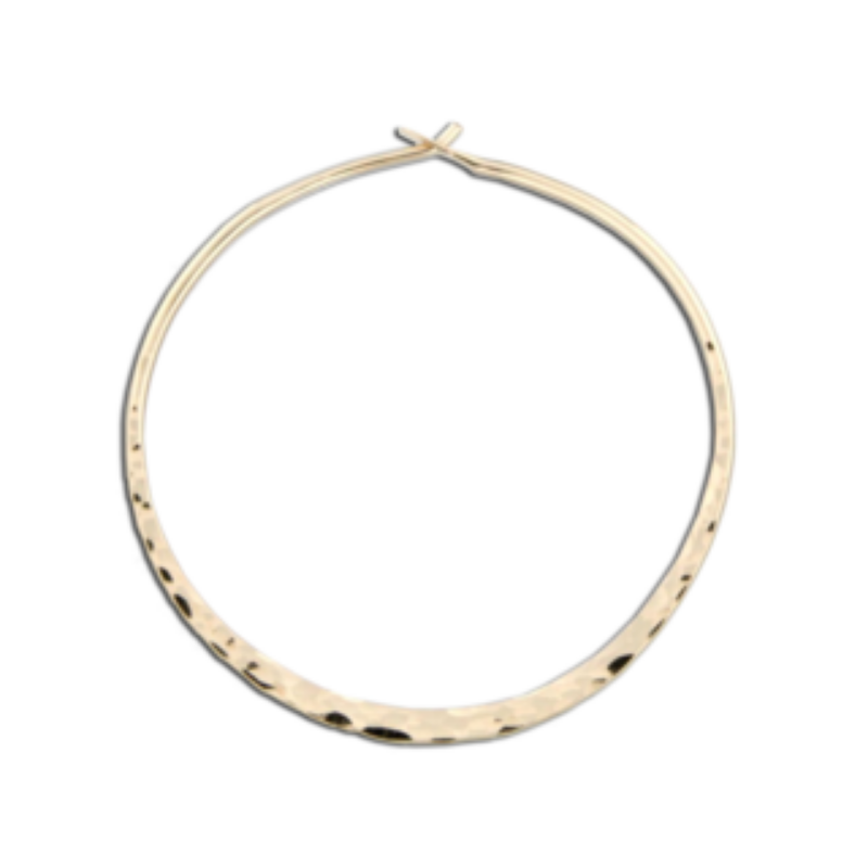 EARRINGS | Hammered Hoops Gold
