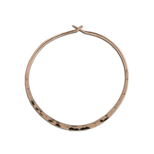 EARRINGS | Hammered Hoops in Rose Gold