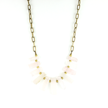 BIB Necklace | Rose Quartz