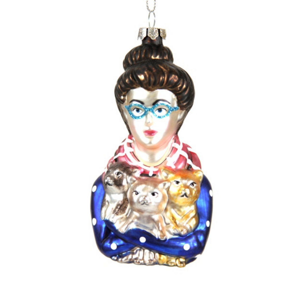 ORNAMENT | Glass Cat Lady