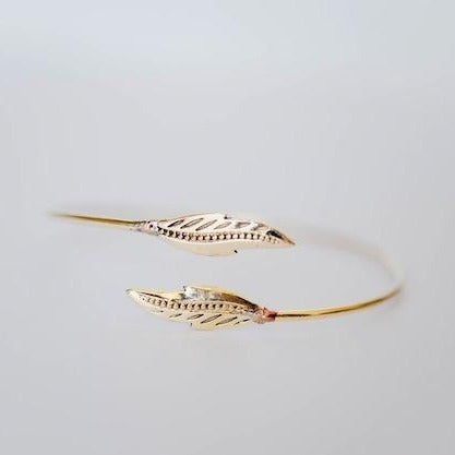 BANGLE | Brass Leaves