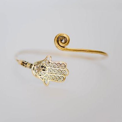 BANGLE | Brass Hamsa Hand