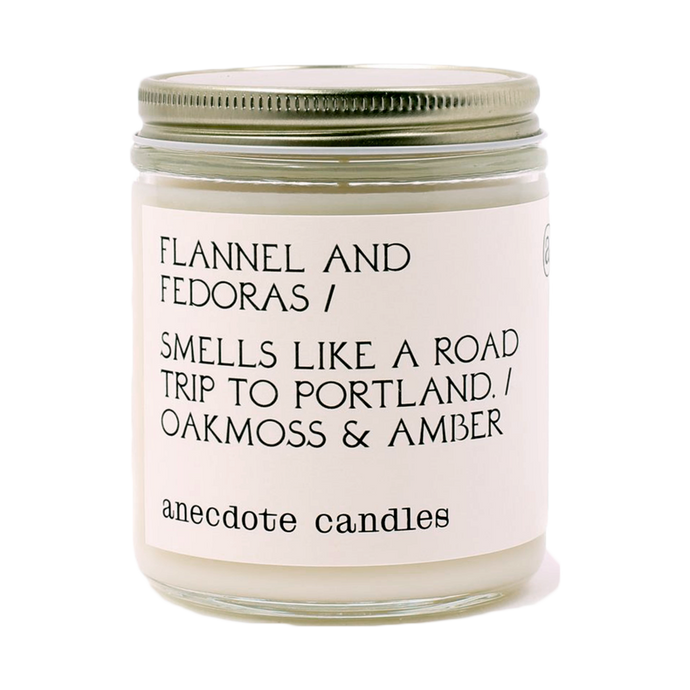 CANDLE | Flannel & Fedoras