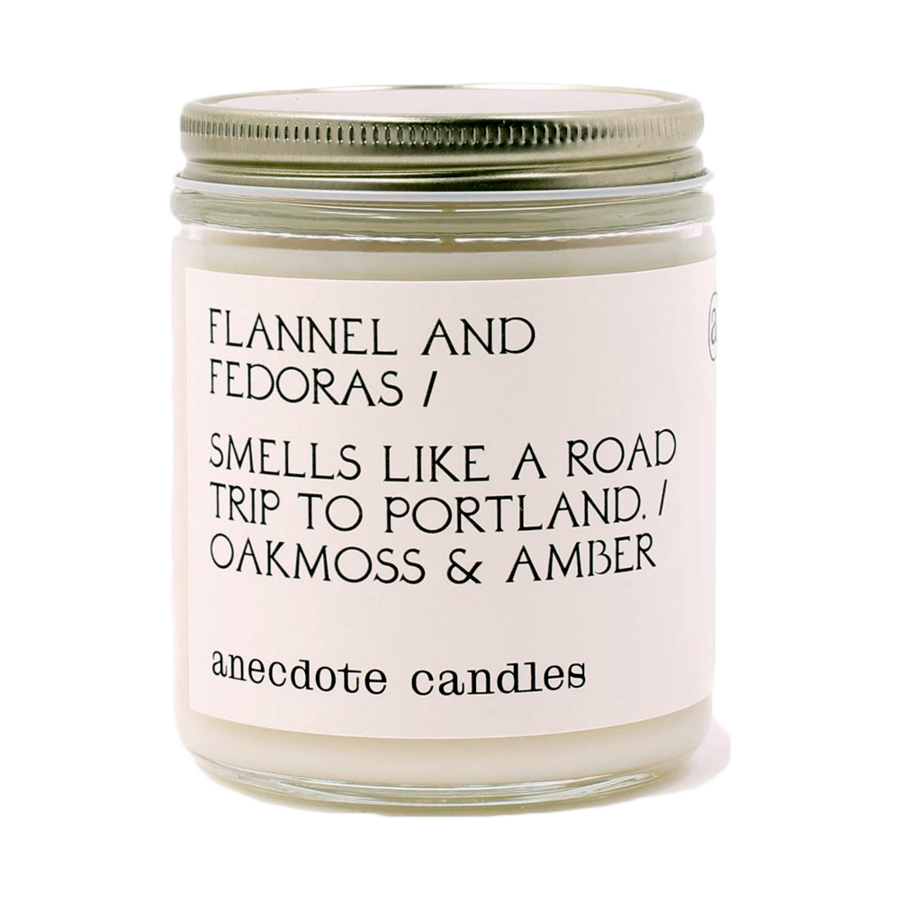 CANDLE | Anecdote Candles Flannel & Fedoras