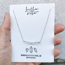 BAR Necklace | Herkimer Diamond