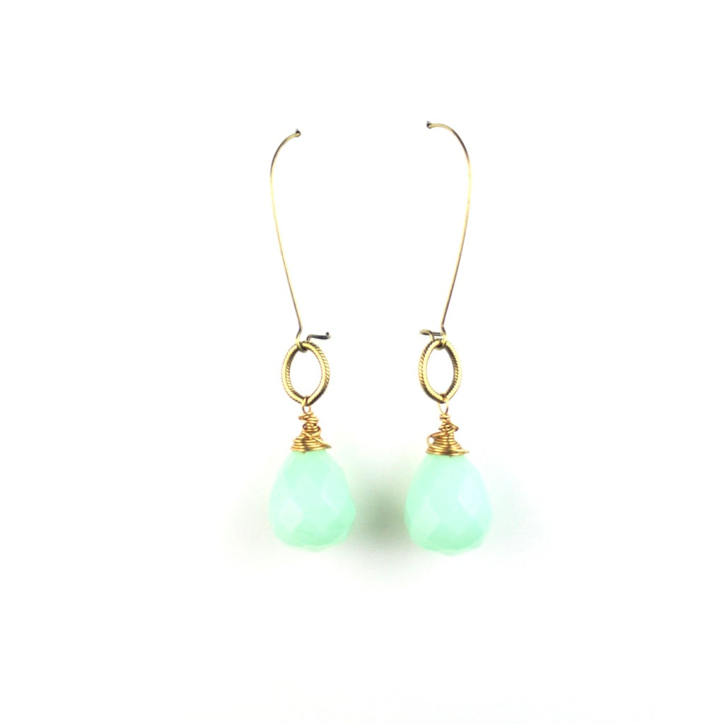 ZARA Drop Earrings | Aqua Chalcedony