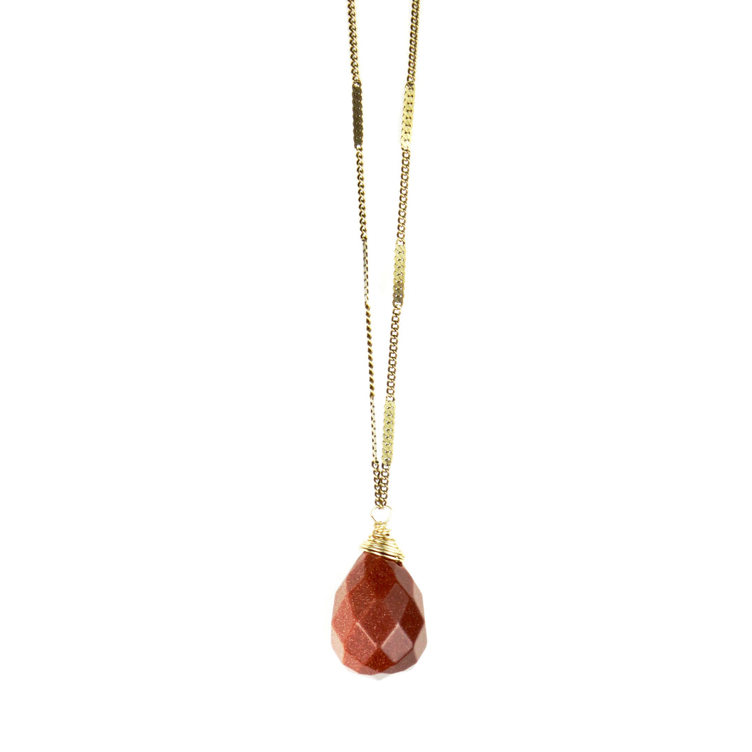 ZARA Drop Necklace | Goldstone