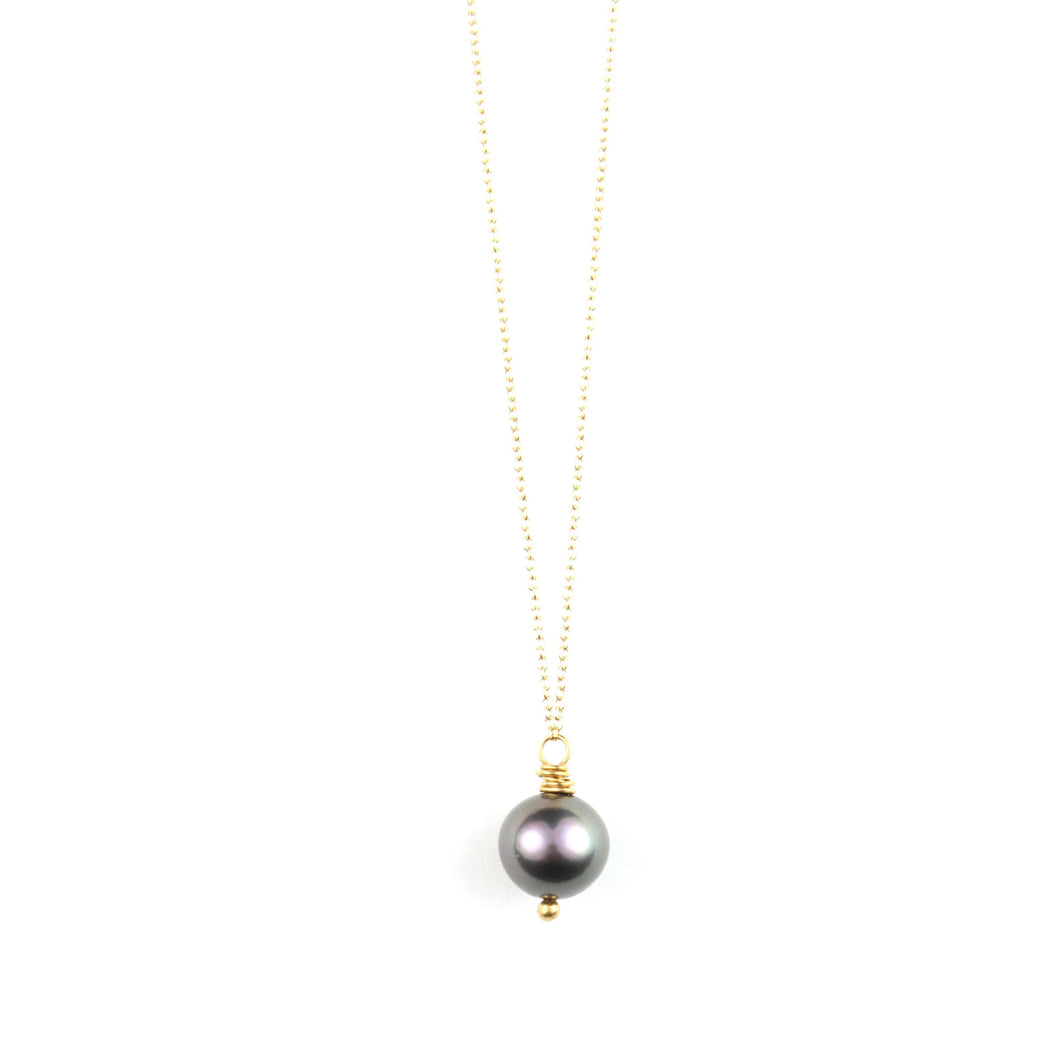 PANTONE Grey Pearl Necklace