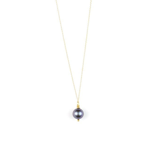 PANTONE Black Freshwater Pearl Necklace