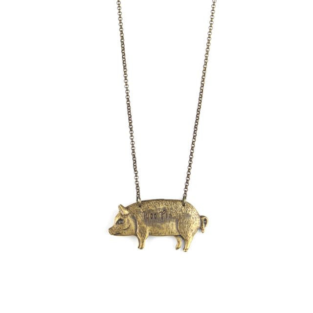 RAZORBACK | Stamped Pig Necklace