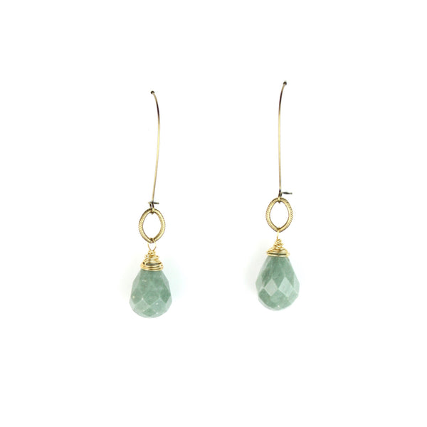 ZARA Drop Earrings - Green Quartz