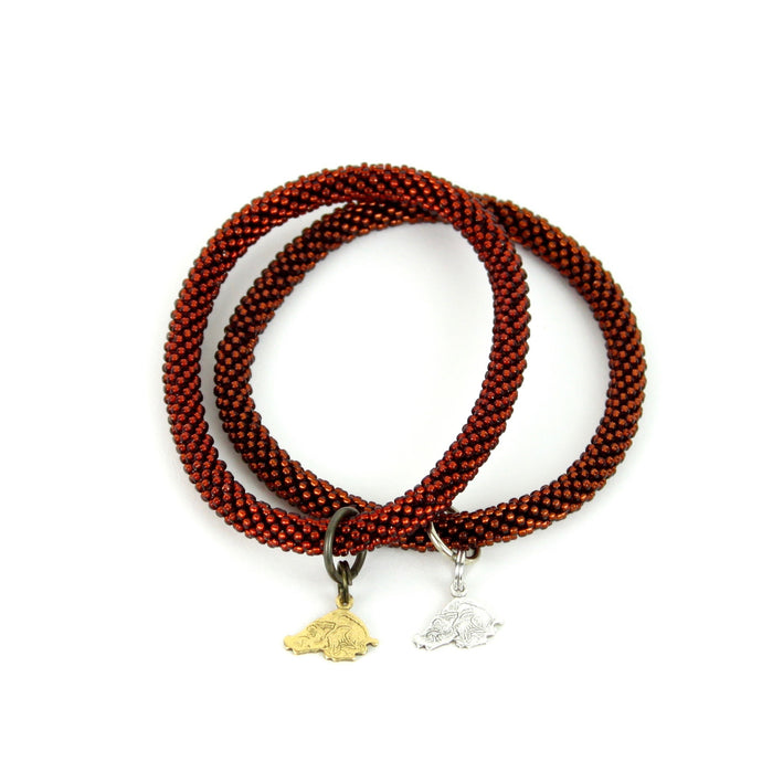 RAZORBACK | Beaded Bangle w/ Razorback Charm