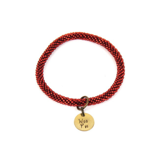 RAZORBACK | Beaded Bangle w/ Woo Pig Charm