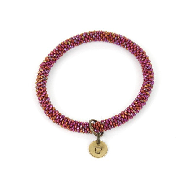 PLACE | Beaded Bangle w/ State Charm