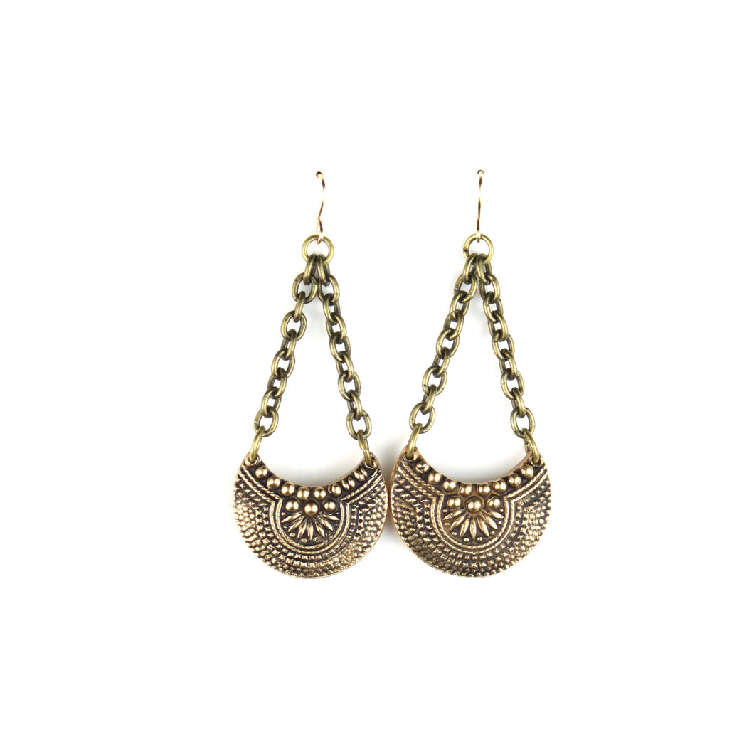 VINTAGE REDUX | LACY CRESCENT Earrings