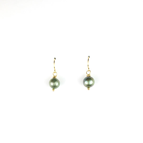 PANTONE Green Pearl Earrings