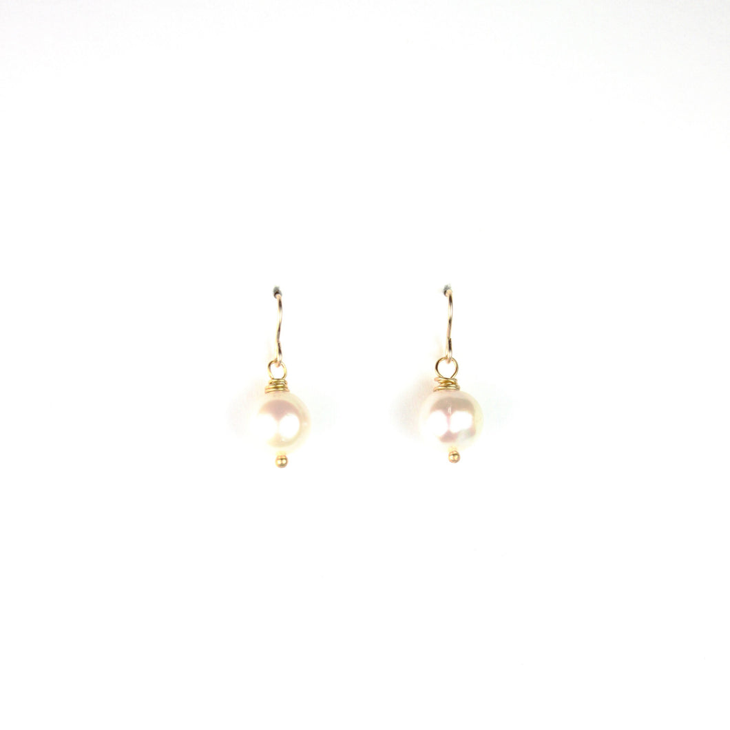 PANTONE White Pearl Earrings