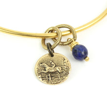 Token Metal Bangle Bracelet | Jumping Horse